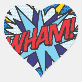 Humorboken WHAM! Hjärtformat Klistermärke