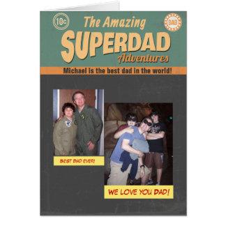Humorbokfotokort, fars dagfödelsedag hälsningskort
