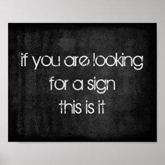 humorcitationsteckentext på bekymrad mörk - grått poster