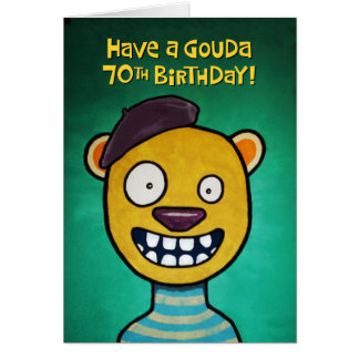 Humoristisk 70th födelsedaghälsning hälsningskort