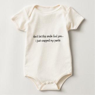 humoristisk bebisskjorta sparkdräkt