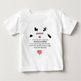 Humoristisk definition av en förälder t shirts
