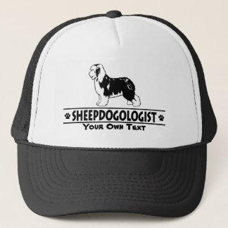 Humoristisk gammal engelsk Sheepdog Truckerkeps
