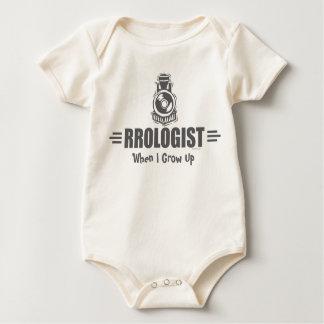 Humoristisk järnväg body för baby