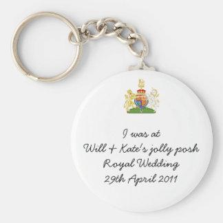 Humoristisk kunglig bröllopnyckelring rund nyckelring