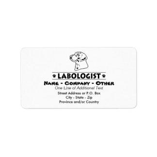 Humoristisk Labrador Retriever Adressetikett