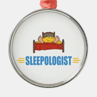 Humoristisk sömn, ta sig en tupplur julgransprydnad metall