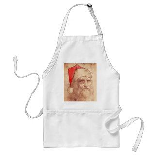 Humoristiska Leonardo Da Vinci som Santa Förkläde