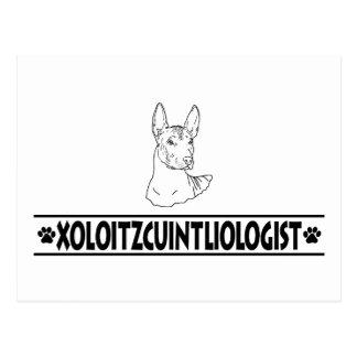 Humoristiska Xoloitzcuintli Vykort