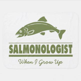 Humoristiskt laxfiske bebisfilt