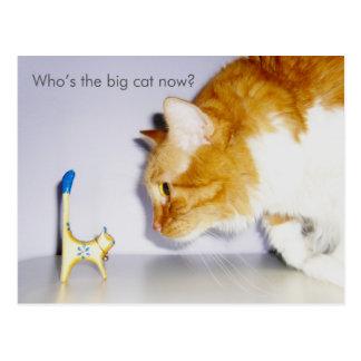 """Humoristiskt """"vem är den stora katten nu?"""", Vykort"""