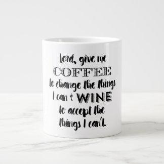 Humormuggen - ge mig kaffe och vin jumbo mugg