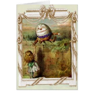 Humpty Dumpty och Alice Hälsningskort