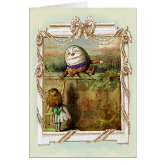 Humpty Dumpty och Alice OBS Kort