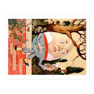 Humpty Dumpty Sat på en vägg i underland Vykort