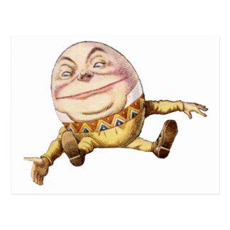 Humpty Dumpty Sat på väggen Vykort