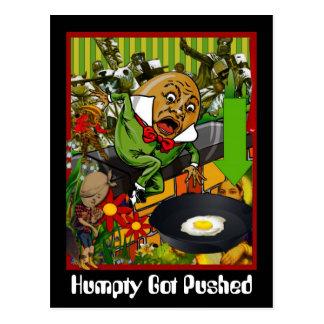 Humpty fick skjuten vykort