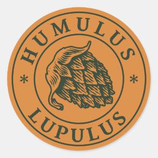 Humuluslupulusskutt för hantverköl runt klistermärke
