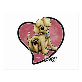 Hund älskare - hjärta vykort