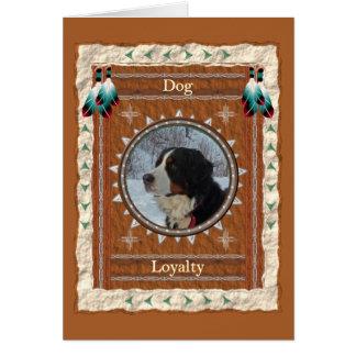 Hund - beställnings- hälsningkort för Lojalitet OBS Kort