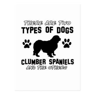 Hund design för Clumber Spaniel Vykort