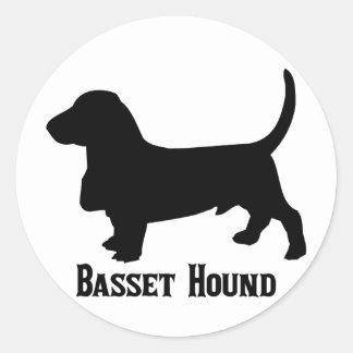 Hund för 2315112006 Basset (Animales) Runt Klistermärke