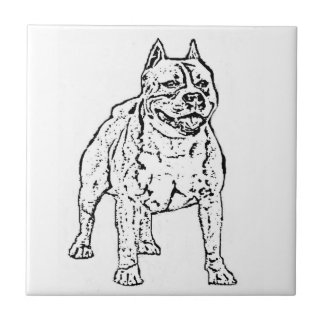 Hund för amerikanStaffordshire Terrier Kakelplatta
