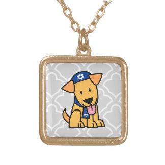Hund för Hanukkah judisk Labrador Retrievervalp Guldpläterat Halsband