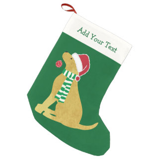 Hund för helgdag för personligjulRetriever Liten Julstrumpa