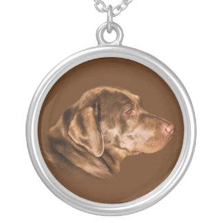 Hund för Labrador Retriever, halsband, anpassade Silverpläterat Halsband