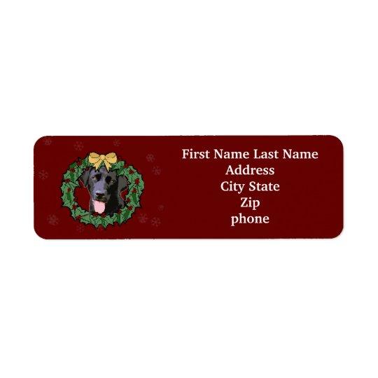 Hund för Labrador Retriever: Labbhund för jul Returadress Etikett