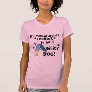Hund för Manchester TerrierAgility Tee Shirt