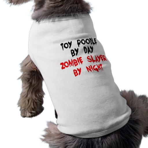 Hund för pudel för ZombieSlayerleksak Hund Tee