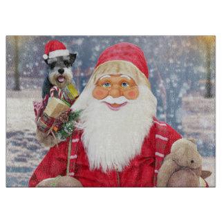 Hund för Schnauzer för miniatyr för jultomtenw-jul