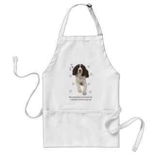 Hund för Spaniel för engelsk Springer Förkläde