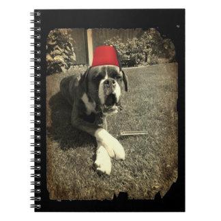 Hund för Tommy Cooperboxare Antecknings Böcker
