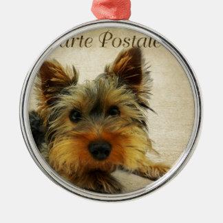 Hund för Yorkshire Terrier Julgransprydnad Metall