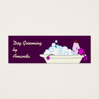Hund i badkaret - älsklings- Groomer Litet Visitkort