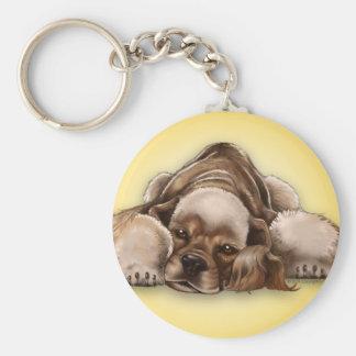 Hund Keychain för cockerspaniel för Rund Nyckelring