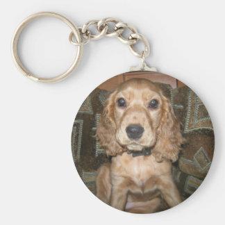 Hund Keychains Rund Nyckelring