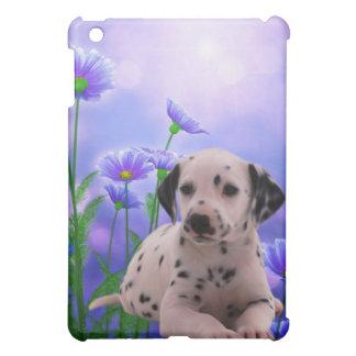 Hund med blommor iPad mini mobil skydd