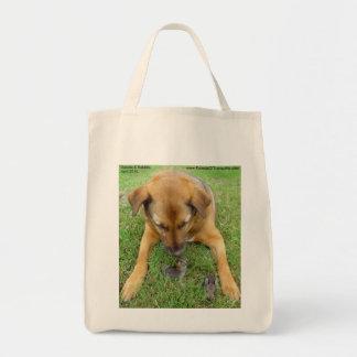 Hund med kanintote bags tygkasse