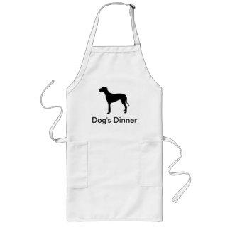 Hund middag - great danesilhouetteförkläde långt förkläde