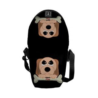 Hund och ett ben kurir väska