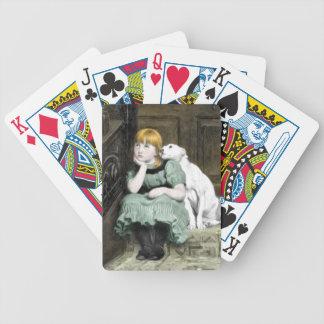 Hund som älskar flickaVictorianmålning Spelkort