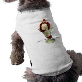 Hund tröja för glass för hettfuskverkSundae Retro