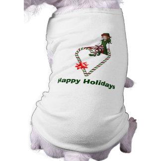 Hund tröja för helgdag för jul för flickaälvacandy