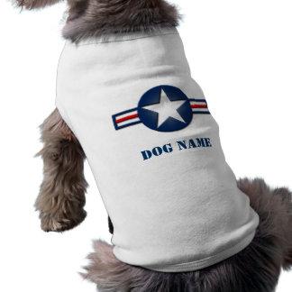 Hund tröja för personligflygvapenlogotyp