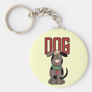Hund tröja och gåvor rund nyckelring