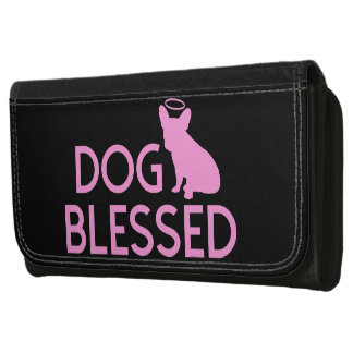 """""""Hund välsignad"""" fransk bulldoggängelplånbok"""